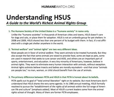 Understanding HSUS